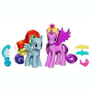 My Little Pony - A2657E240 - Poupée - Poney et Princesse - Crystal Twilight and Rainbow Dash