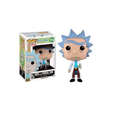 Funko - Figurine Rick et Morty - Rick With Portal Gun Exclu Pop 10cm - 0849803094331