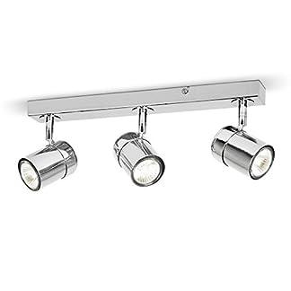 MiniSun – Plafoniera moderna su binario con 3 luci spot orientabili e finitura lucida – sistema di illuminazione su binario