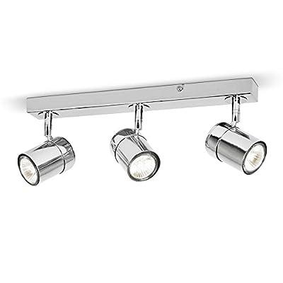 MiniSun – Plafoniera moderna su binario con 3 luci spot orientabili e finitura bianca lucida – sistema di illuminazione su binario