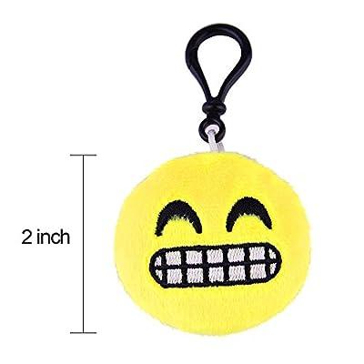 "Mini emoji-pop 2"" plush toy pillow, emoji keychain, kids Party Supplies Favors, 16 Pack"