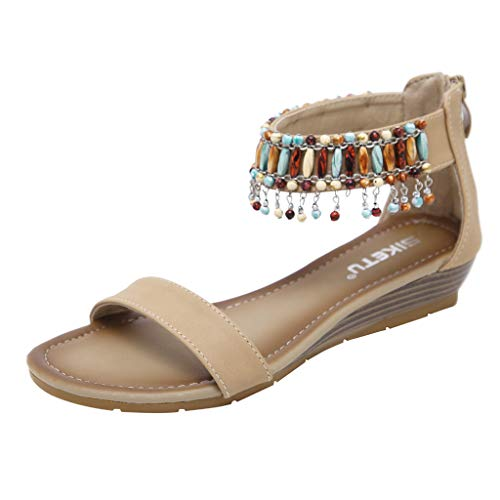 Darringls_Sandalias de Primavera Mujer,Zapatillas Puntiagudo Cinturón de Cruz Verano Fondo Plano calados Sandalias de Playa Peep Toe Mujer