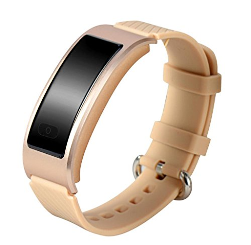Tongshi Waterproof Smart Watch Bracelet Band Heart Rate Monitor For Iphone (dorado)