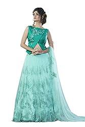 Mahotsav Net Lehenga Choli (6920_Soft Blue, Turquoise Blue, Green_Free Size)