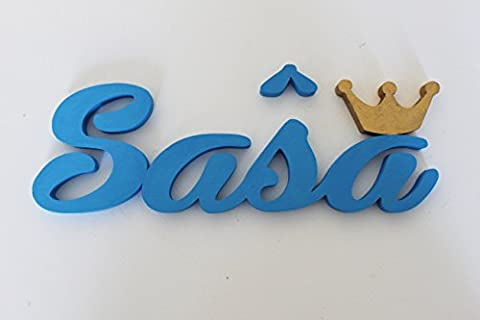 Girl Name with Golden Crown Door Plaques, Personalised Door Signs, Nursery Decors, Sasa, Custom Gifts,Christmas Gifts, Mia Workshop,Contact the seller via Amazon message to provide the requested name and