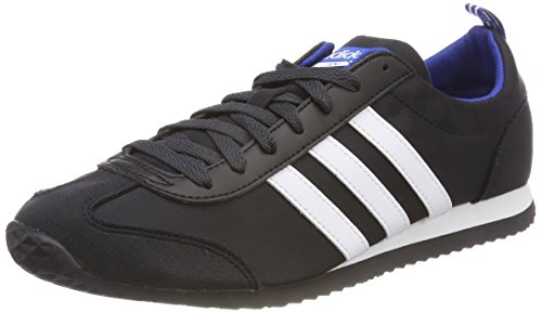 adidas Herren VS Jog Gymnastikschuhe Schwarz (Core Black/FTWR White/Collegiate Royal) 43 1/3 EU