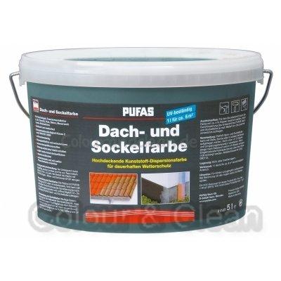 Pufas Dach- und Sockelfarbe 5 L Farbe: Basaltblau 961 Dachfarbe Sockel-Anstrich von Pufas - TapetenShop