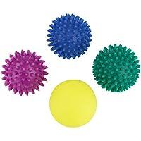 BB SPORT Massagebälle 4er Set Igelbälle in Verschiedenen Härtegraden und Größen