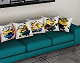 METRO-FASHION Polyester Cushion Cover/Sofa Pillow Printed (16x16 Inch/40x40 cm)-Set of 5