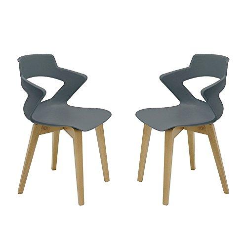 Set 2 sillas de Madera Estilo nórdico Zenith escandinava Italiana con Carcasa...