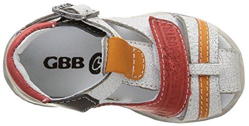 GBB Melvil, Chaussures Bébé marche bébé garçon Blanc (19 Vtc Blanc/Marine/Rouge Dpf/Filou)