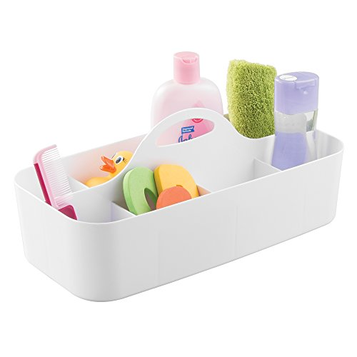 mdesign-baby-kids-bathroom-organizer-tote-for-shampoo-conditioner-powder-medicine-large-white