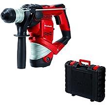 Einhell TH-RH 900/1 - Martillo perforador con mecanismo percutor neumático, 2.5 J, cabezal SDS-plus, 4000 percusiones/min, 900 W, 230 V, color rojo y negro