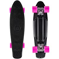 STAR-SKATEBOARDS® Vintage Cruiser Board ★ Edizione 22ª Diamante Categoria ★ Diabolico Nero & Incantevole