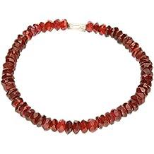Granat Armband rot Ø 5-6mm - Länge 19cm mit Silber 925