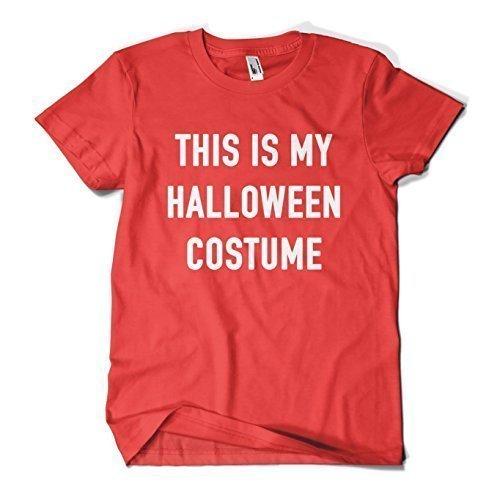 MYOG Das Ist My Halloween Kostüm T-Shirt, Lustig Unheimlich Gruselig Top für Männer & Frauen, Größen S-XXL - Rot, Mens XXL (50-52