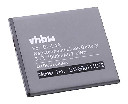 vhbw Li-Ion Akku 1900mAh (3.8V) für Handy Smartphone Telefon Microsoft/Nokia Lumia 535, 535 Dual SIM, RM-1090 wie BL-L4A.