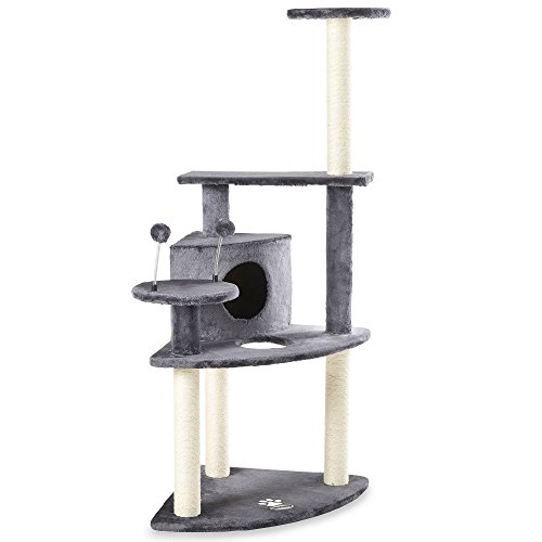 Milo & Misty Corner Cat Tree with Platforms & Scratching Post - Activity Centre Kitten Hide with Toys