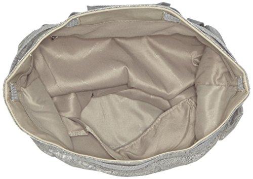 Tamaris Damen Nico Bucket Bag Schultertasche, 1x40.5x34.5 cm Silber (silver Comb.)