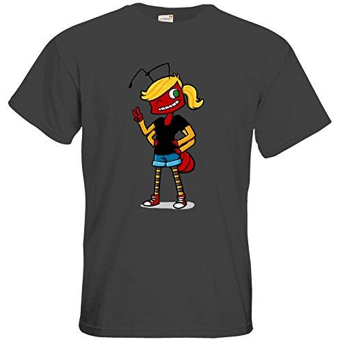 getshirts - Tom Wendels Loot Box - T-Shirt - AntMe! Antoinette Dark Grey