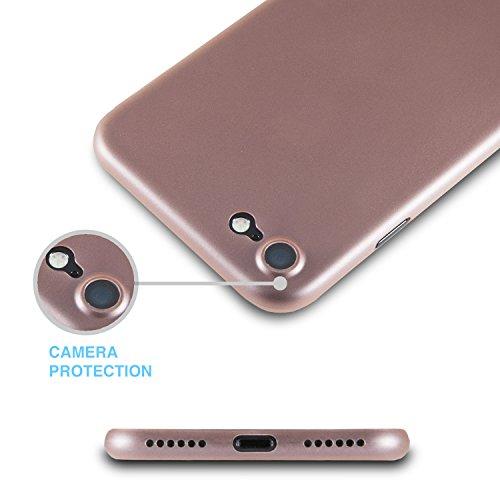 iPhone 7 Hülle [ULTRA SLIM] 0,35mm Case Wecell [PERFECT FIT] handyhülle iPhone 7 Shutzhülle - Gold [Un-Durchsichtig] Rosé