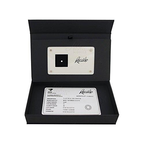 Diamante Recarlo Da Investimento Caratura 0.05 Colore G Purezza IF Certificato Taglio Brillante WX4KHFM
