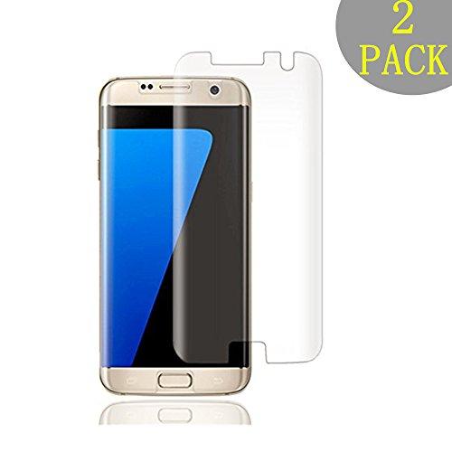 SUZOUS [2 Pièces]pour Galaxy S7 Edge Verre Trempé, Film Protection en Anti Rayures sans Bulles D'air Verre trempé Écran Protecteur vitre Ultra Résistant Dureté 9H Glass pour Samsung Galaxy S7 Edge