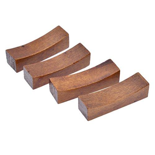 YNuth 4 Stück Holz Essstäbchen Bank Ablage Küche Restaurant Eßgeräte Japanisch