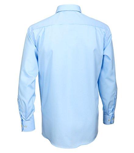 Casa Moda - Comfort Fit - Bügelfreies Herren Business langarm Hemd verschiedene Farben (006050) Blau (14)