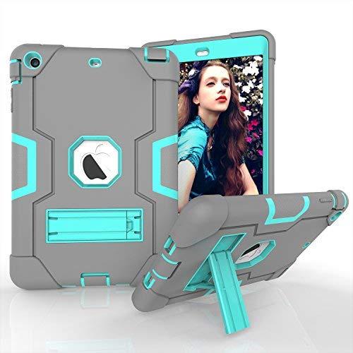 , iPad Mini 2Case für iPad Mini 3, iPad Mini Fall, Daker Slim Bumper Smart Case Ständer Wasserdicht schmutzfest stoßfest für Apple iPad Mini 1/2/3Bunten, Rückseite Durchsichtig Leicht, Grey Mint -