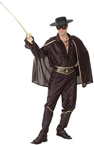 Maske Kostüme Des Zorro (Zorro-Kostüm für Herren XL)