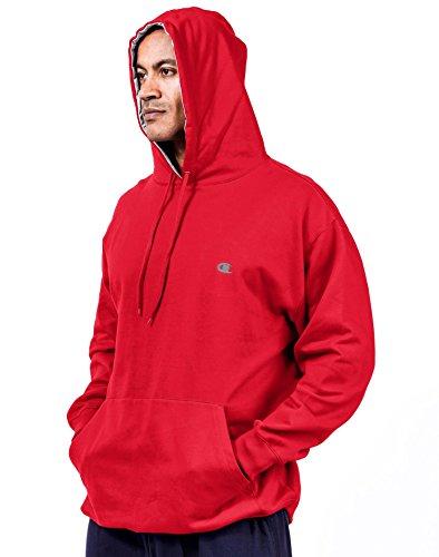 champion-sweat-shirt-a-capuche-manches-longues-homme-rouge-rouge-cramoisi-4xl