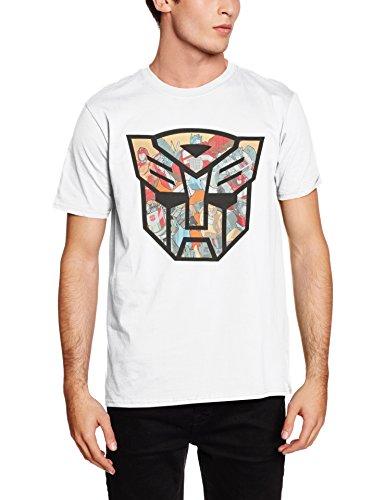Rockoff Trade Herren T-Shirt Autobot Shield Montage, Grau, Einheitsgröße Weiß - Weiß