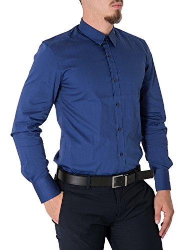 ANTONY MORATO - Camicia uomo super slim fit mmsl00375/fa450001 Azzurro