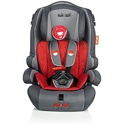 ZOE&JOE Scandinavian ZJ213 Silla de coche para niños - Grupos 1, 2 Y 3 de 9-36 kg gris y roja. Normativa Europea ECE R44/04
