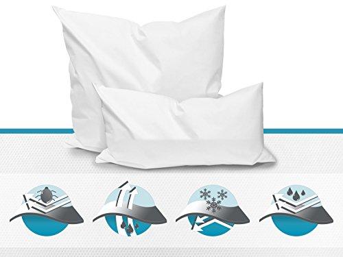 Allergendichte Kissen-Zwischenbezüge - wirksam gegen Milben, Bakterien und Pilze - verbinden optimal Allergieschutz und hohen Schlafkomfort - erhältlich in 4 verschiedenen Größen, 80 cm x 80 cm