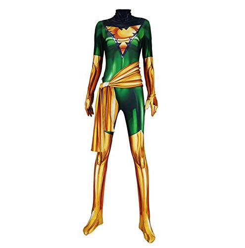 X-Men Dark Phoenix Kostüm Kind Erwachsener Cosplay Kostüm Superhelden Halloween Mottoparty Onesies 3D Druck Strumpfhosen,Women3-XL