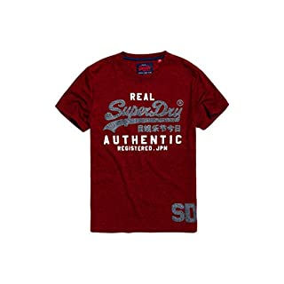 Superdry Men's Vintage Authentic Duo Tee Kniited Tank Top, (Red Hook Grit Zlo), Small