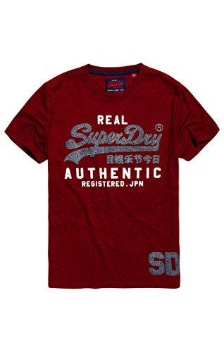 Superdry Herren Pullunder Vintage Authentic Duo Tee, Rot (Red Hook Grit Zlo), X-Large