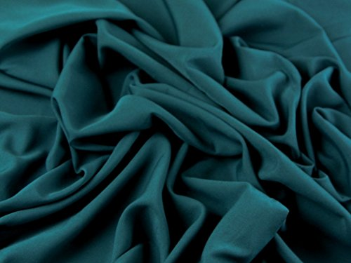 Soft Touch Polyester Crepe Kleid Stoff Dark Teal–Meterware (Crepe Polyester)