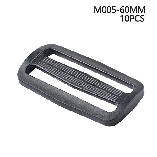 Gurtband-Schnallen, verschiebbar, verschiedene Größen, Kunststoff-Schnalle für Rucksack / Tasche, 60 mm (Schieber Gürtel)