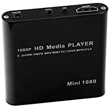 Sharplace 1pz 1080p Lettore Multimediale HD HDMI RMVB Mkv Deviazione Standard SDHC JPEG USB EU Plug