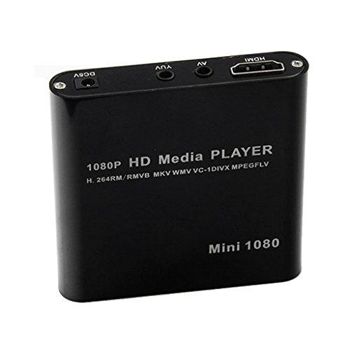 Sharplace 1080p Medios de HD HDMI Jugador RMVB MKV para para SD SDHC USB JPEG Enchufe UE Negro