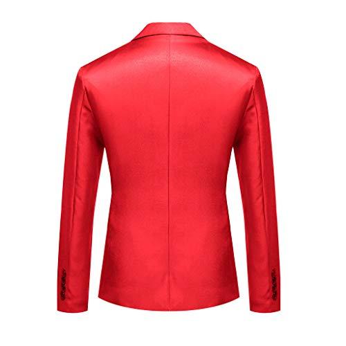 Low 5 Flare Jean (Herren Sakko klassisch Reverskragen Blazer Jackett Anzug Slim Fit bequem sportlich Slim Fit Modern Schwarz (M-2XL))