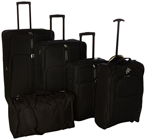5 Cities Juego de maletas, negro (Negro) – 602 21/26/29, TB830 HD602 BLK