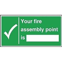Feuer Assembly Point Anmeldung 150 x 300mm. Selbstklebende Vinyl. preisvergleich bei billige-tabletten.eu