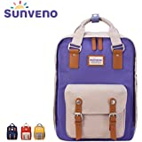 Multi-Function Waterproof Large Capacity Mummy Bag Diaper Bag Womens Bag Travel Backpack Nappy Tote Bag W/ Changing Pad Purple