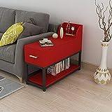 Desk Xiaolin Massivholz Sofa Beistelltisch Büro Schreibtisch Ecktisch Freizeit Tisch Schreibtisch Doppelschicht Mit Schublade (Farbe : 02, größe : 60 * 40cm)