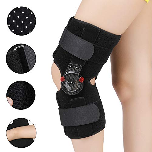 GRX-MOTION Knieorthese - Knieschoner Verstellbare Knieschiene, Breathable Knee Orthopedic Brace Joint Stabilizer Support Guard Protector,M (Mcl Brace M)