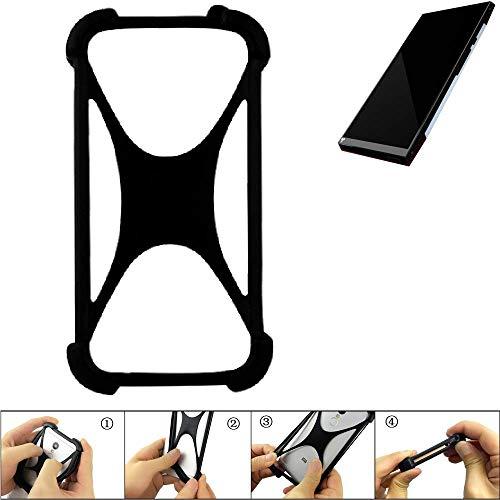 K-S-Trade Handyhülle für Turing Robotic Industries Turing Phone Schutz Hülle Silikon Bumper Cover Case Silikoncase TPU Softcase Schutzhülle Smartphone Stoßschutz, schwarz (1x)